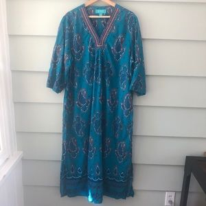 KATE LANDRY CASUALS Caftan Lounge Dress XL